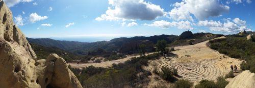 žygis, Malibu, kastos petnešos, spiralė, Rokas, dangus, mėlynas, Kalifornija, socal, Pietų Kalifornija, kraigas
