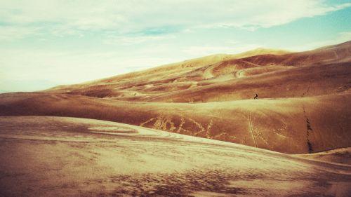Colorado, kopos, puikus smilčių & nbsp, kopos, žygis, nacionalinis & nbsp, parkas, smėlis & nbsp, kopos, kelionė, keliautojai, vakaruose, pėsčiųjų smėlio kopos