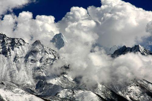 Himalajus,debesė nuotaika,kalnai