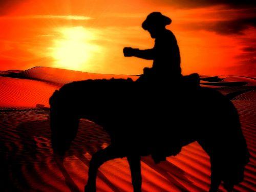kaubojus, arklys, Vakarų, jodinėjimas, Jodinėjimas, siluetas, lygtys, herojus, atmosfera, fonas, fono paveikslėliai