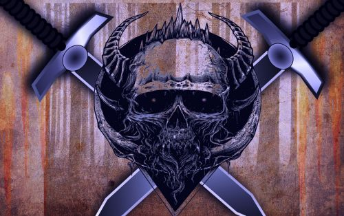 kaukolė, velnias, pragaras, baugus, Halloween, kaulai, drebulys, satanas, pilka, išgąsdinti & nbsp, veidą, okultas, fono paveikslėliai