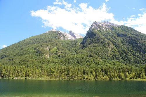 kardu,berchtesgaden,kraštovaizdis,ežeras,viršutinė Bavarija,berchtesgadeno nacionalinis parkas,panorama,gamta,vanduo,bavarija,vandenys,Vokietija,poilsis,labai šalta,kalnas,žalias