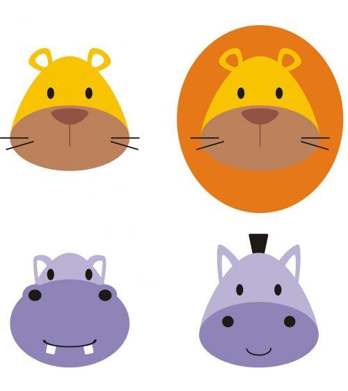 pelėnas,mielas,liūtas,izoliuotas,linksma,arklys,turėti,logotipai,hippo,galva,mielas,veidas,laukiniai,animacinis filmas,gyvūnas