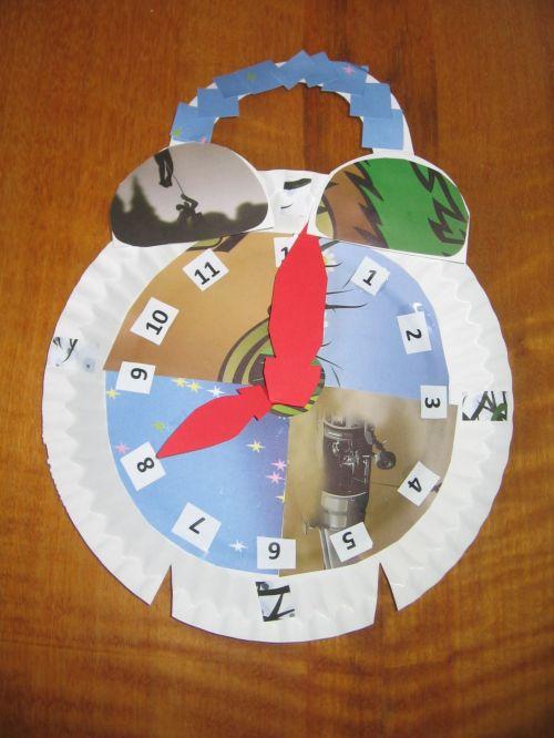 popierius, laikrodžiai, produktas, laikrodis