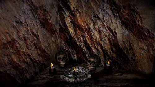 urvas, akmuo, žvakė, kaukolė, urvas & nbsp, portalas, fantazija, Rokas, urvas