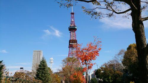 Hokaidas,Sapporo,tv bokštas,boulevard,odorio parkas