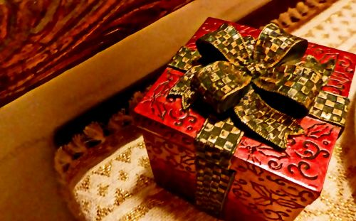 Kalėdos, apdaila, pateikti, paketas, xmas, šventė, atostogų paketas