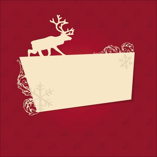 atostogos,tuščia,Kalėdos,šiaurės elniai,atvirukas,nemokama vektorinė grafika
