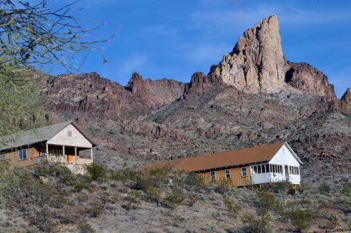 namai, namai, kalnai, dykuma, Nevada, piko, Dantyta Rokas, akmenys, uolingas, namai dykumos kalnuose