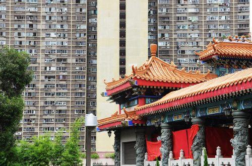 Honkongas,miestas,didelis miestas,struktūros,architektūra,šiuolaikiška,fasadas,modelis,dangoraižis,didelis,langas,namo fasadas,šventykla,senas,tradicija,naujas,asija