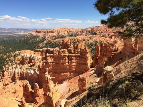 hoodoos,Bryce kanjonas,Bryce,kanjonas,nacionalinis,parkas,gamta,Utah,raudona,usa