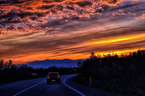 horizontas linija, atvirkštinės šviesos, siluetas, Sparkle, horizontas, raudona, apsvaiginus gyvūną, spalva, po debesis, šviesos filtravimo