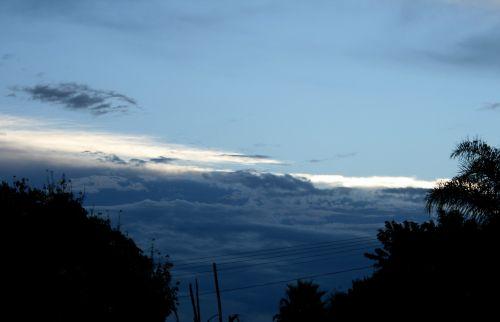 debesys, horizontalus, serija, grupė, balta, detalus, gerai, gudrus, flock, atspalviai & nbsp, mėlyna, mįslingas, gylis, twilight, dangus, horizontalios debesų formos