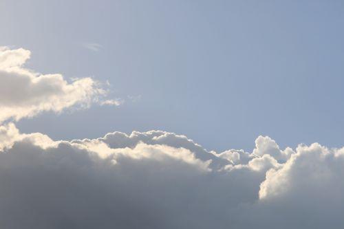 debesis, horizontalus, linijinis, butas, kraštas, šviesa, horizontalus debesis su šviesos kraštu