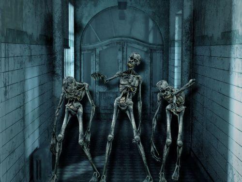 siaubas, skeletas, kaukolė, baugus, Halloween, creepy, gotika, Undead, skeletas, košmaras, galva, fantazija, siaubas