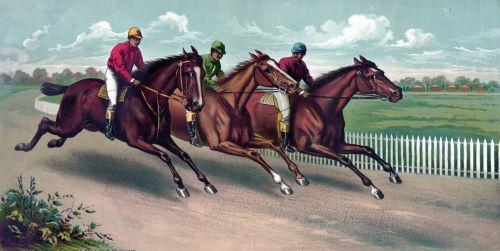 žirgais & nbsp, žirgais, lenktynių žirgais, lenktynių žirgais, grynas, lenktynės, lenktynės, menas, vintage, dažymas, jockey, jockeys, gražus, spalvinga, Laisvas, viešasis & nbsp, domenas, arklių lenktynių tapyba