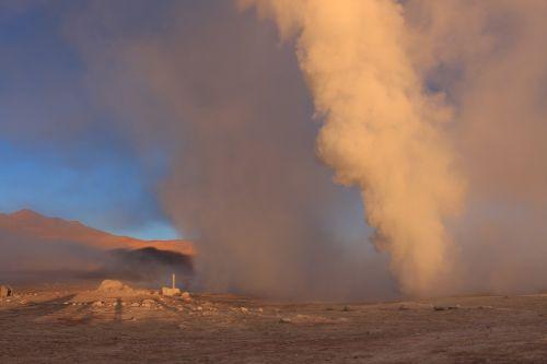 karštas šaltinis,garai,vulkaninis,geizeris,karštas,vulkanas,dykuma,Bolivija,spalva