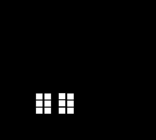 namas,siluetas,langai,apšviestas,apšviestas,kaminas,namai,nemokama vektorinė grafika