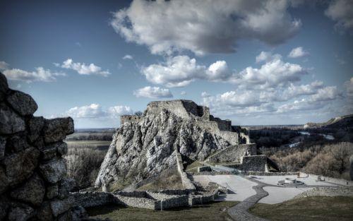 pilis, senos griuvėsiai, griuvėsiai, viduramžių, devin, slovakija, akmenys, Peržiūros, kiemas, istorija, nuotraukos, Laisvas, pilies vidinis kiemas