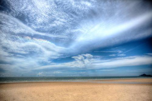 hua-hin,papludimys,Tailandas,hdr,jūra,vandenynas,smėlio paplūdimys