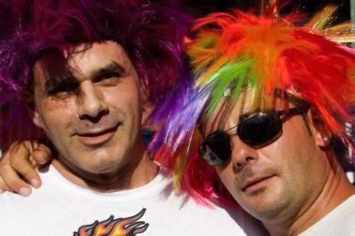 žmogus,vyrai,gatvės paradas,perukas,spalva