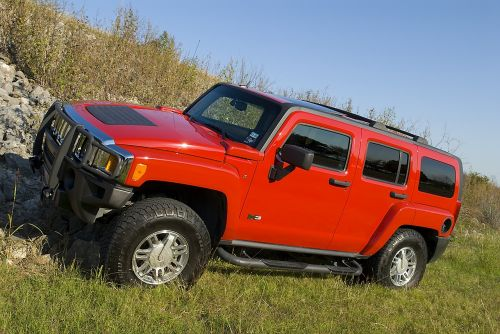 Hummeras,raudona,sunkvežimis,4x4,offroad,transporto priemonė,automobilis,off-road,Šalis,h3,humvee,david