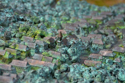 vengrija,hollókő,kaimas,kaimas,pasaulio paveldo vieta,bronza,modelis,plastmasinis