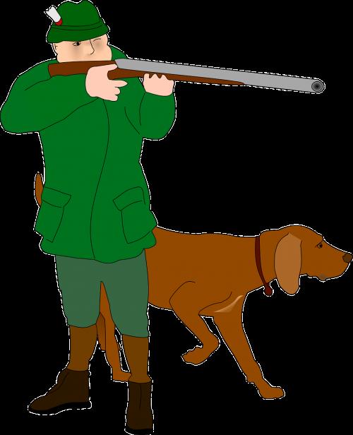 medžiotojas,šaulys,kovotojas,medžiotojas,šuo,medžioti,medžioklė,Šaudymas,pistoletas,šautuvas,šautuvas,tikslas,nemokama vektorinė grafika