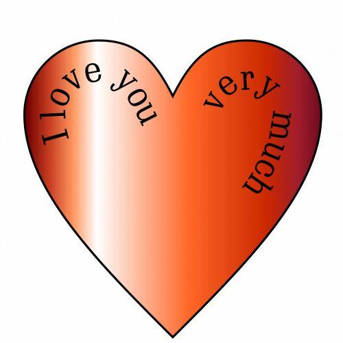 raudona, širdis, gradientas, fonas, tekstas, i, meilė, tu, labai, daug, Draugystė, valentine, aš tave myliu 2