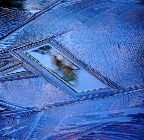 Ledas, Užšaldytas Vanduo, Žiema, Šaltas, Užšaldyti, Šaltis, Mėlynas, Ledinis Veidrodis, Gamta, Ledinis