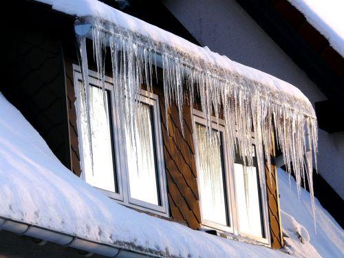 ledas,varveklių,šaltas,žiema,langas,stogas,balta,šaltis,sniegas,sušaldyta,šaltas lietus,vanduo
