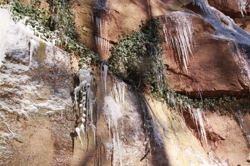 ledo laipiojimas,cascada,žiema,ledo formacijos,peizažai