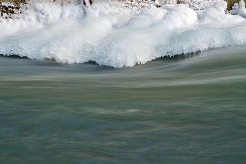 Ledas Ant Slenksčio, Užšalusi Upė, Žiema, Ledas, Vanduo, Sušaldyta, Plekšnė, Šaltas, Ledas, Potvynis Žiemą