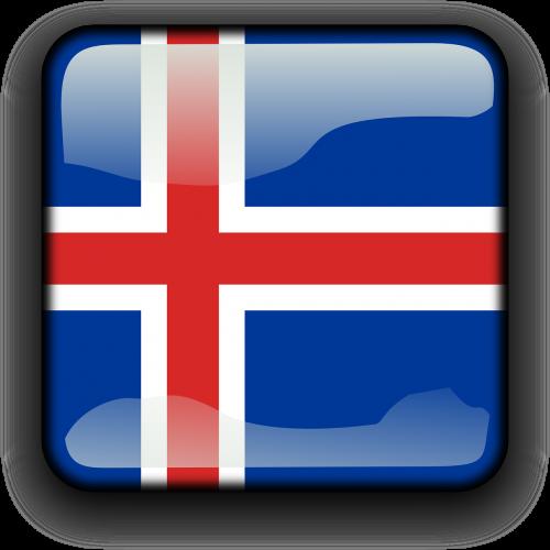 iceland,vėliava,Šalis,Tautybė,kvadratas,mygtukas,blizgus,nemokama vektorinė grafika