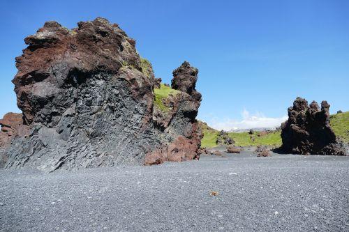 iceland,kraštovaizdis,gamta,vanduo,jūra,атлантический,Rokas,kranto,lava,papludimys,akmenukas,lava beach,vulkanas,vulkanizmas