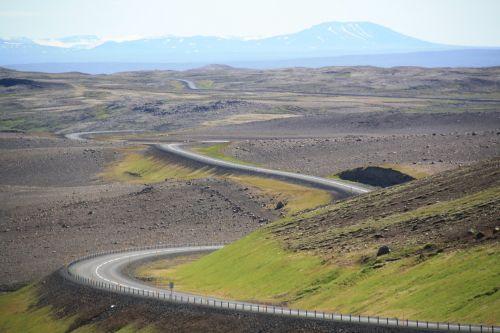 iceland,kelias,kreivė,gamta,kraštovaizdis,vienatvė,tuščias,begalinis,vairuoti