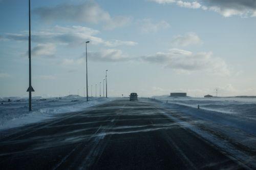 žiema, ledas, sniegas, kelias, vairuoti, ledinis kelias