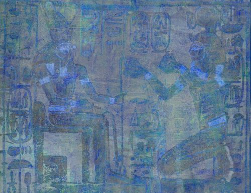 fonas, apdaila, ornamentu, spalva, kūrybingas, modelis, tapetai, iliustracija, Egiptas, iliustracija mėlyna egiptas