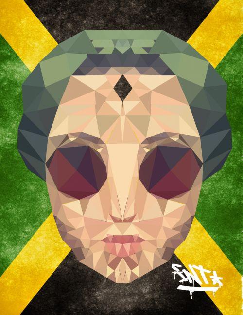 mažas polis, portretas, iliustratorius, Jamaika, adobe, dizainas, iliustratorius