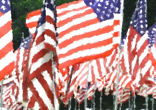 vėliava, amerikietis, amerikiečių & nbsp, vėliava, vėliavos, raudona & nbsp, balta & nbsp, mėlyna, žvaigždės & nbsp, juostelės, 4th & nbsp, liepos, nepriklausomybė & nbsp, diena, veterinaras, veteranai & nbsp, diena, memorialinis & nbsp, diena, usa, americana, Impresionistų amerikiečių vėliavos