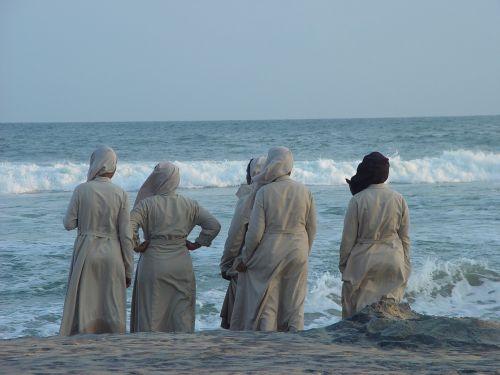 Indija,vienuolės,jūra,tikėk,religija