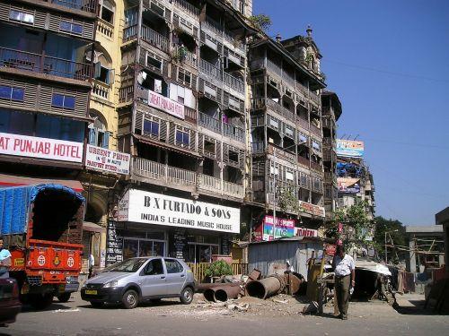 Indija,Mumbajus,bombėjaus,namai