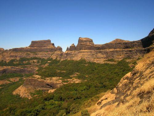 Indija,kraštovaizdis,vaizdingas,kalnai,slėnis,uraganas,dangus,debesys,susivienijimai,atodūs,miškas,medžiai,gamta,lauke,Šalis,kaimas