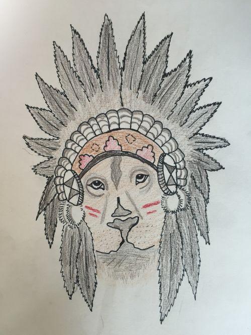 Indijos,leo,piešimas