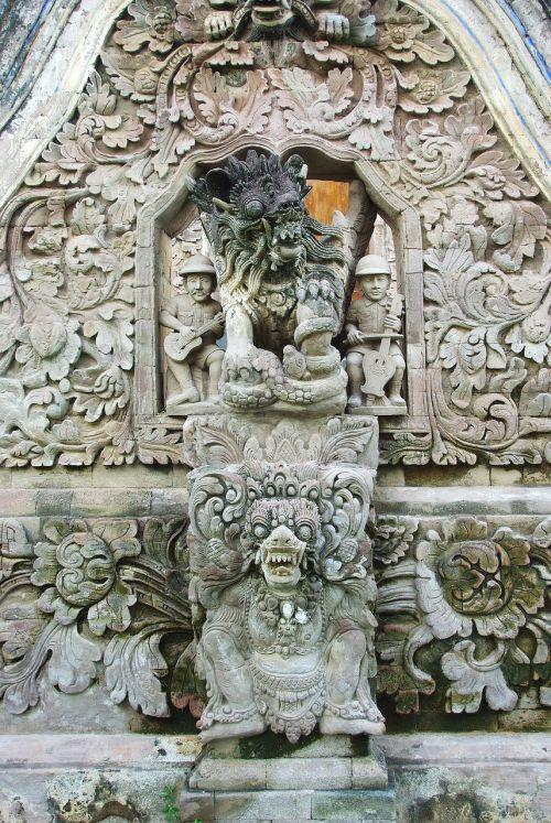 Indonezija,bali,šventykla,skulptūros,anachronizmas,statulos,religija,religinis,architektūra,religinis paminklas
