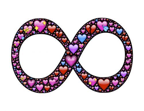 begalybė,begalinis,širdis,meilė,mylėti,emoji,valentines