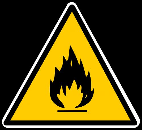 degios,ženklas,pavojingas,simbolis,europietis,cheminis,pavojingas,rizika,Ugnis,saugumas,trikampis,geltona,nemokama vektorinė grafika