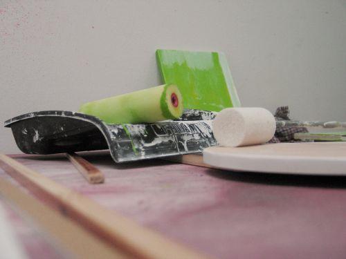 rašalo ritinėliai, dailininkas, Ištrinti, dažyti, namo dailininkas, dažyti, Tinker, darbai, amatų, spalva, žalias