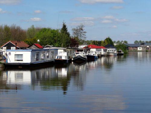 vidaus uostas,de werven,vidaus uostas,steenwijk,Nyderlandai,vanduo,upė,uostas,valtys,laivai,atspindys