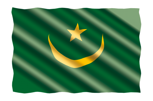 tarptautinis,vėliava,Mauritanija